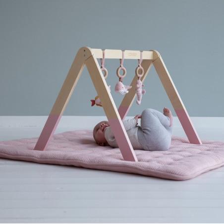 Gimnasio para bebé Ocean rosa - Little Dutch