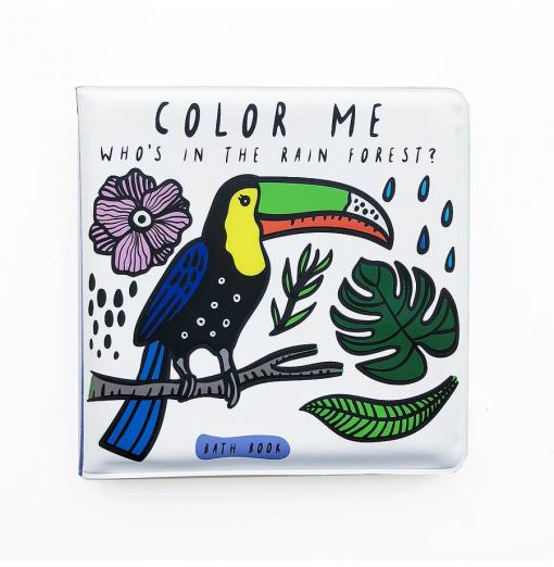 Libro de baño para colorear Jungla - Wee Gallery