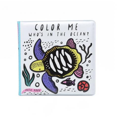 Libro de baño para colorear Océano - Wee Gallery
