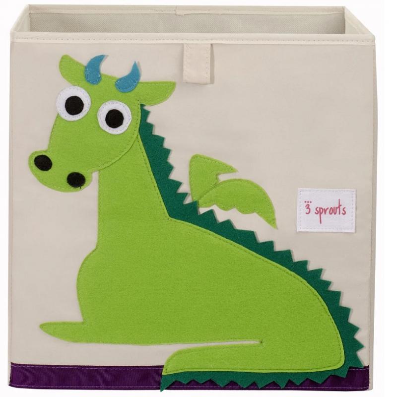 Cubo para almacenar juguetes Dragón - 3 Sprouts