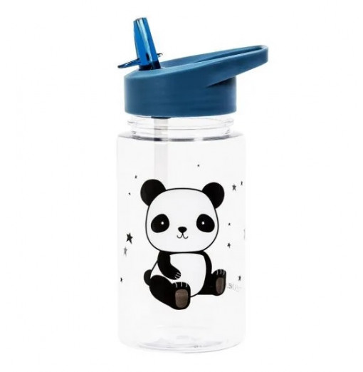 Botella con pajita Panda - A Little Lovely Company
