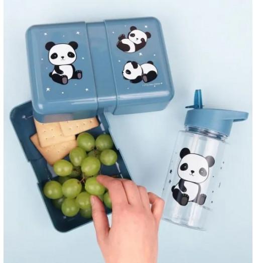 Botella con pajita Panda - A Little Lovely Company