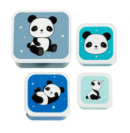 Set de 3 fiambreras Panda - A little Lovely Company