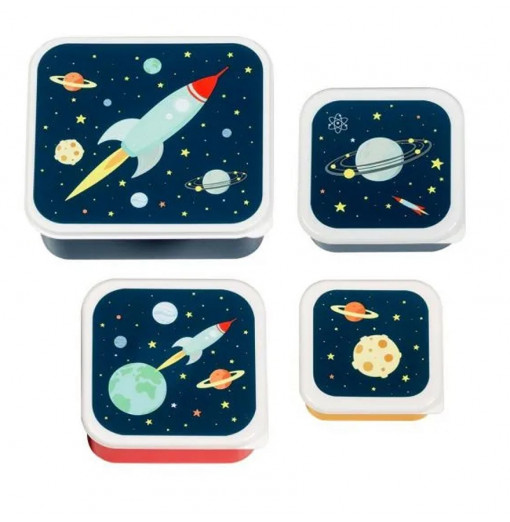 Set de 3 fiambreras Space - A little Lovely Company