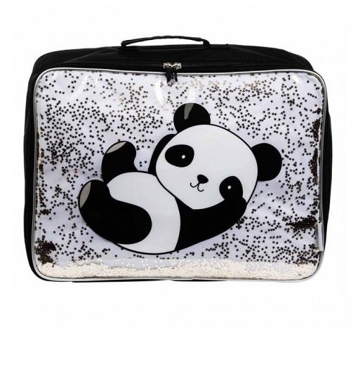 Maleta Purpurina Panda - A Little Lovely Company