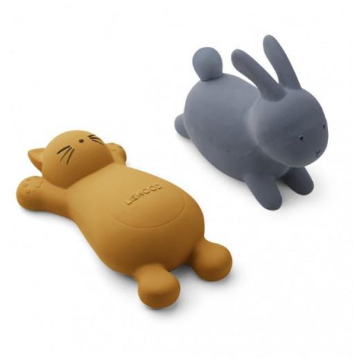Pack de 2 juguetes para el baño mostaza - Liewood