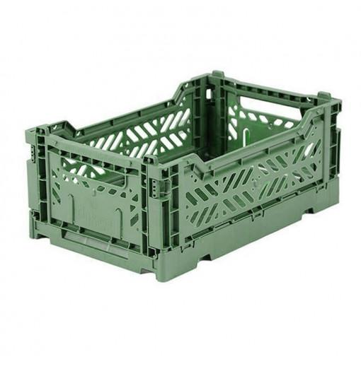 Caja plegable pequeña  - verde almendra