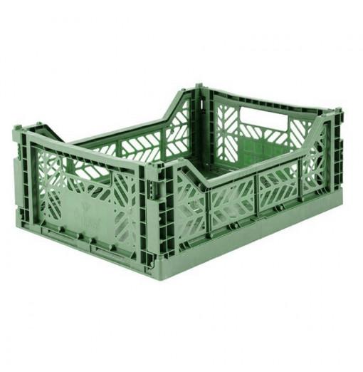 Caja plegable  - verde almendra