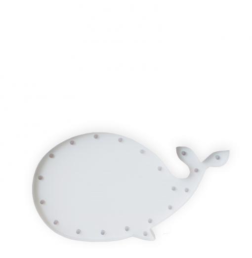 Ballena luminosa blanca