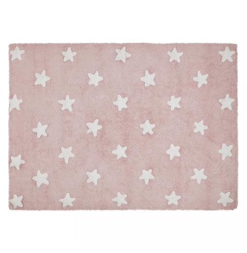Alfombra estrellas rosa -...