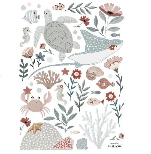 Vinilo animales del océano...