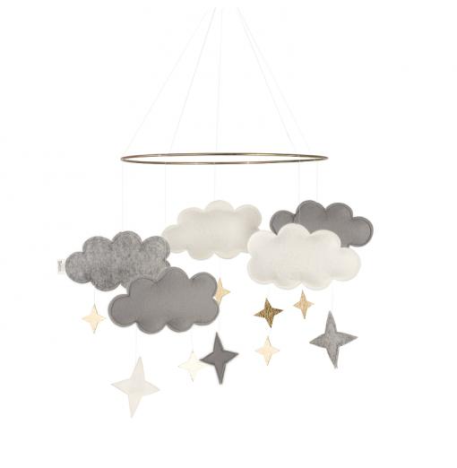 Móvil cuna Fantasy Clouds Gris