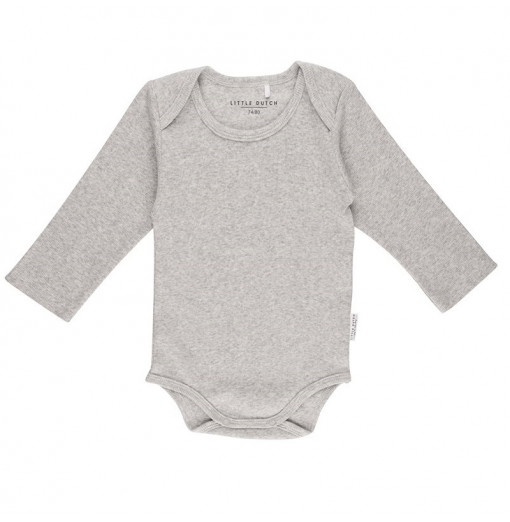 Body manga larga gris -...