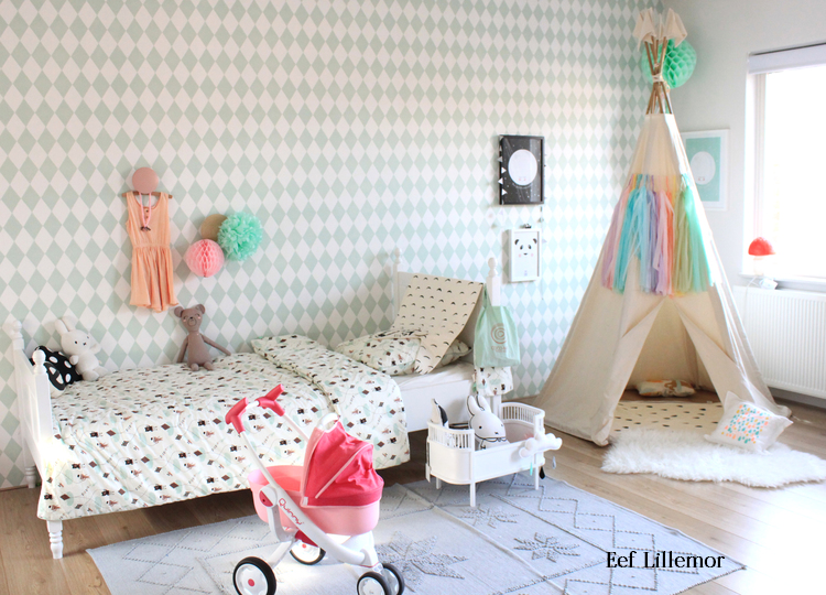 Decorar con papel pintado harlequ n deco kids - Ideas decoracion habitacion infantil ...