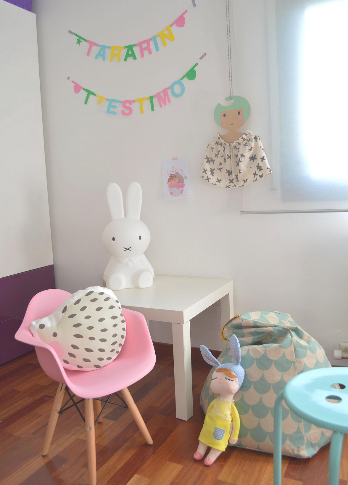 Las habitaciones de abril y martina dulces y alegres - Habitacion pequena nina ...