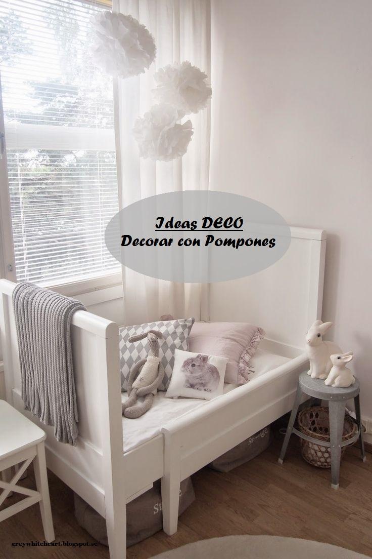 Decorar con pompones una habitaci n infantil deco kids for Ideas para decorar habitacion infantil